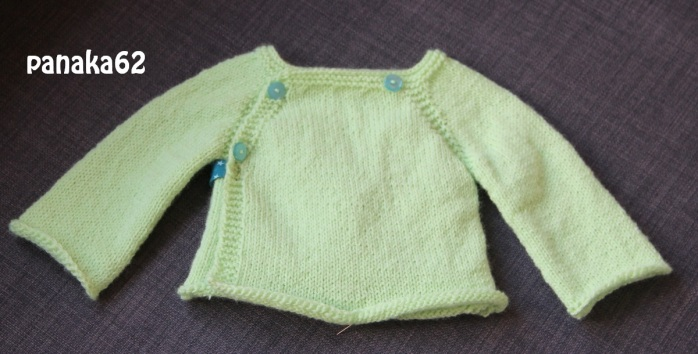 Brassière Layette Tricot Phildar - panaka62 dos