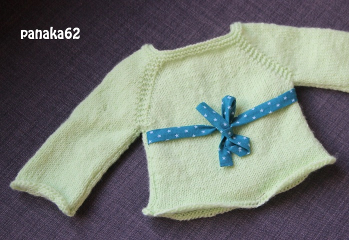 Brassière Layette Tricot Phildar - panaka62 Face